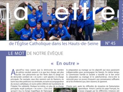 La Lettre de l'Église catholique dans les Hauts-de-Seine