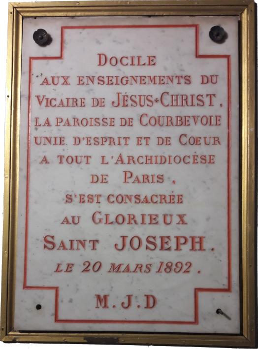 Bonne fête de la Saint Joseph!